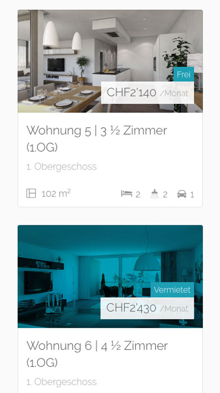 Mobile, Wohnungsvorschau