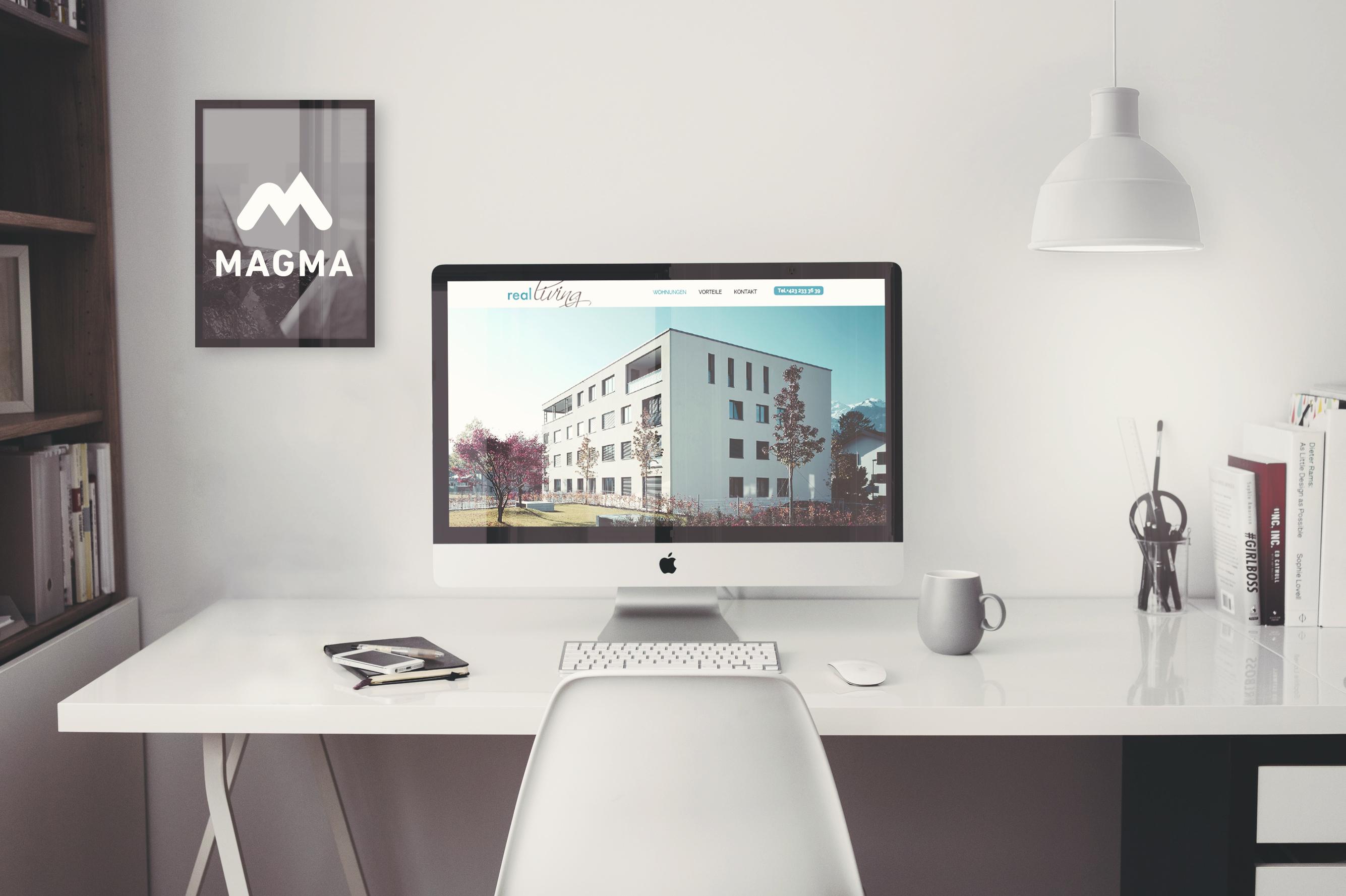 Responsive Webseite von realliving immobilien