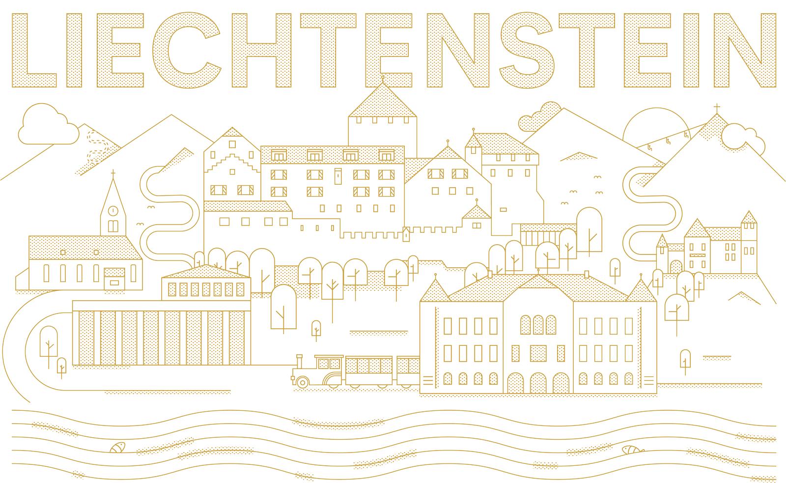 Fürstentum Liechtenstein, Illustration