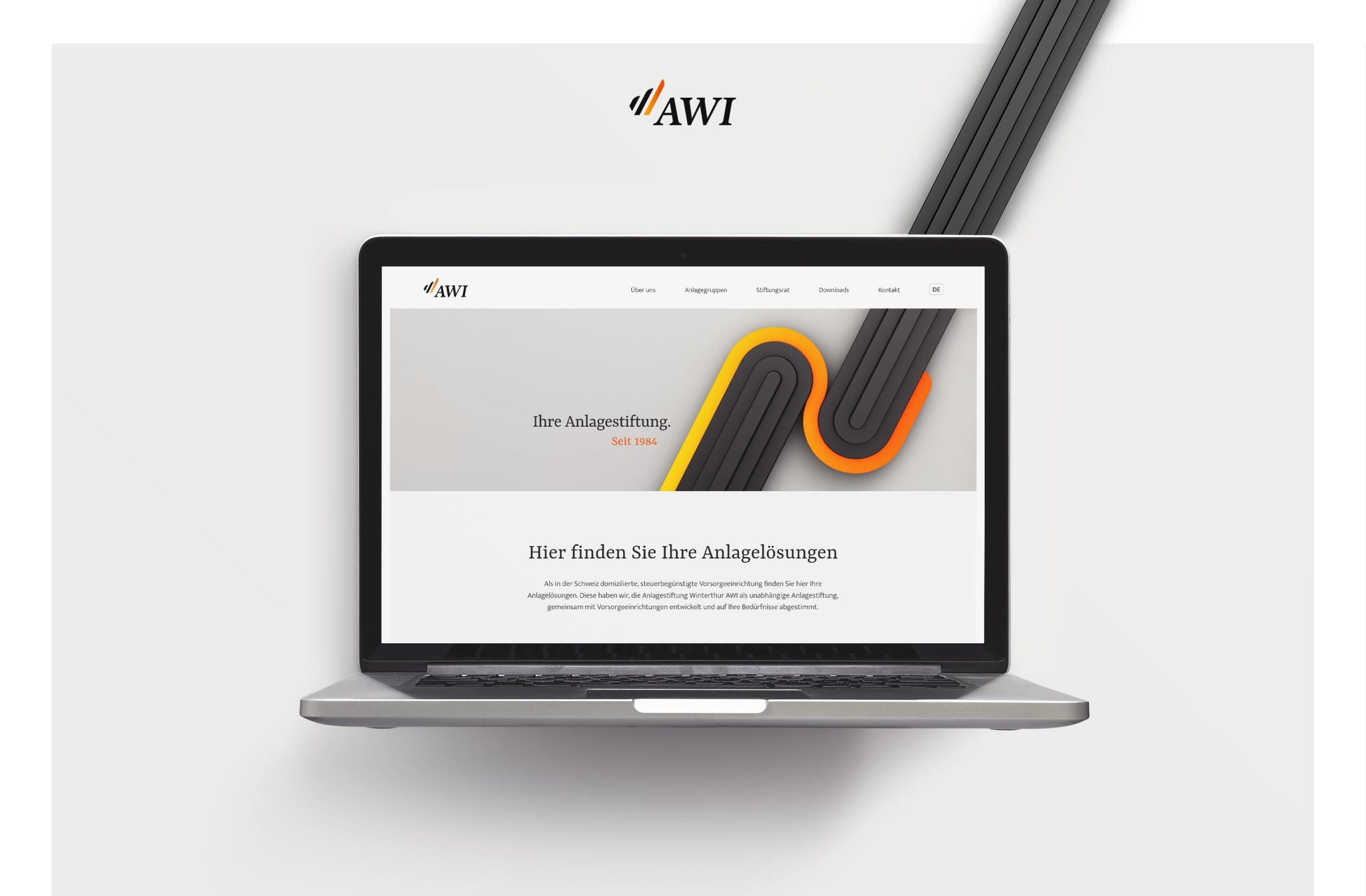 Webseite Anlagestiftung Winterthur