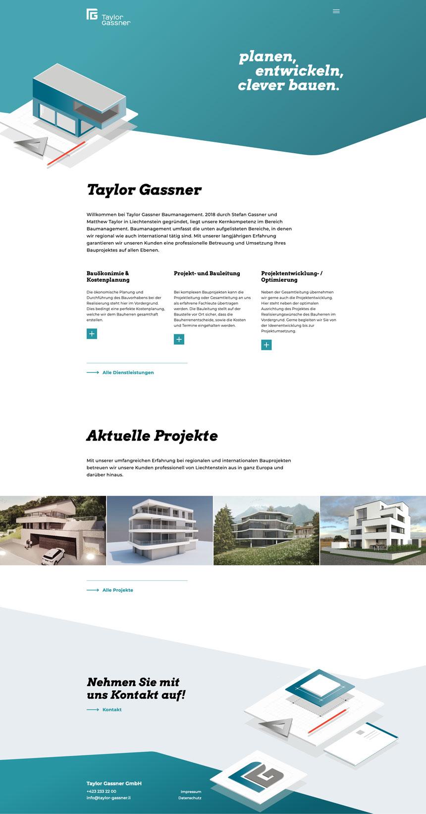Tayler Gassner Webseite Vaduz