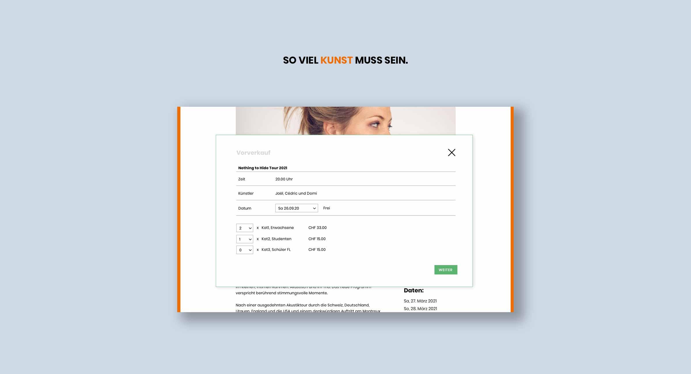 Online -Ticketshop, Liechenstein